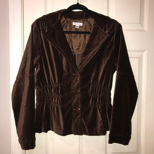 Ruched Chocolate Color Blazer